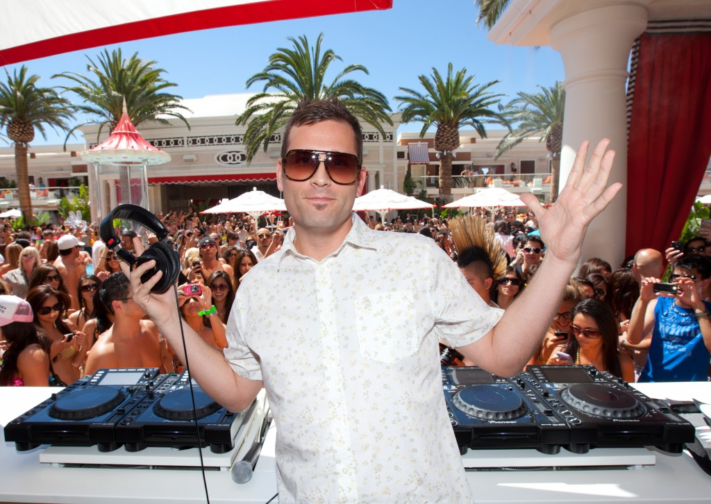 DJ Kaskade performs at Encore Beach Club at  Encore in Las Vegas, NV on May 30, 2010
