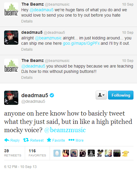 Twitter deadmau5 anyone on here know how to ...