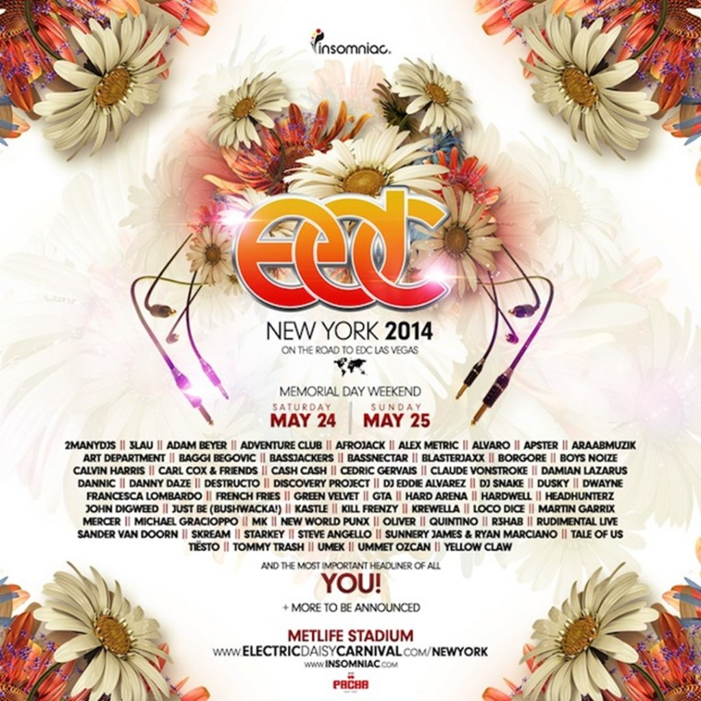 Electric Daisy Carnival NY 2014 – Lineup Announced!