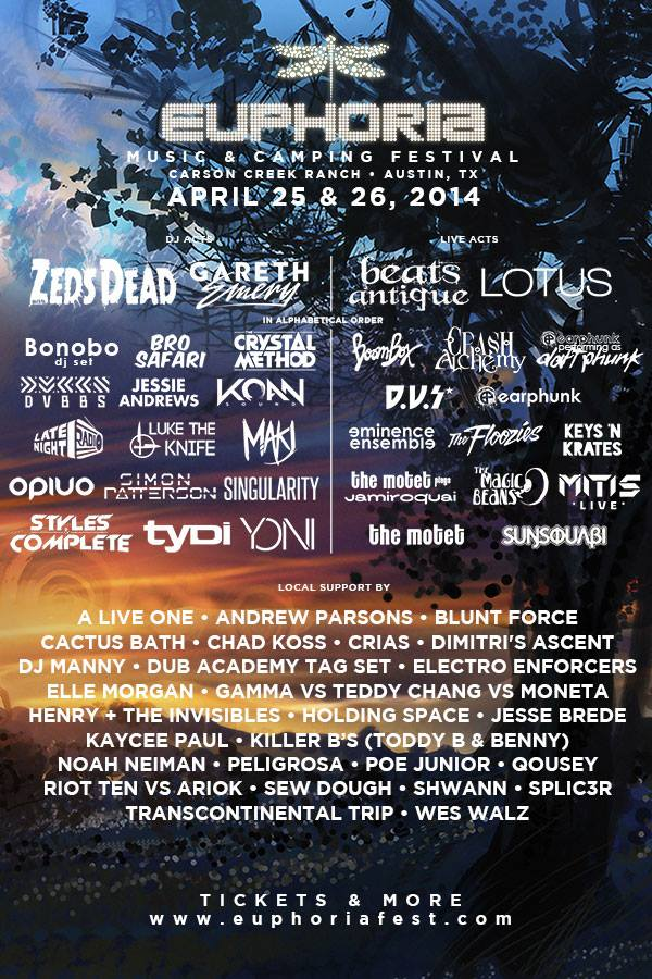 Euphoria Announces Second Round Of Performers