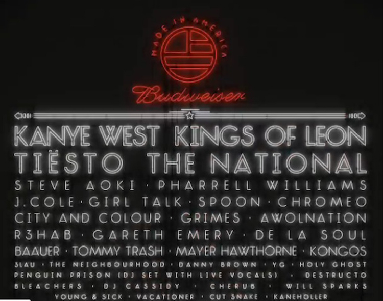 Made in America Announces Philadelphia Lineup