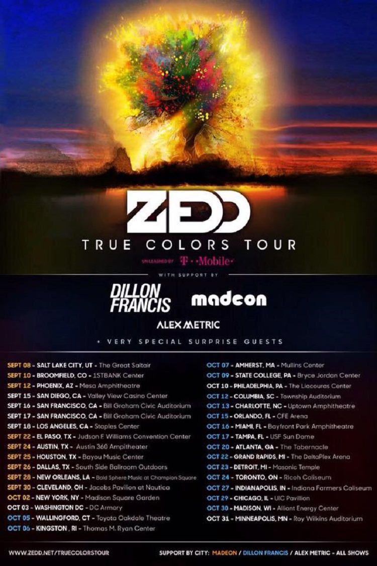 Zedd-True-Colors-Tour-Schedule