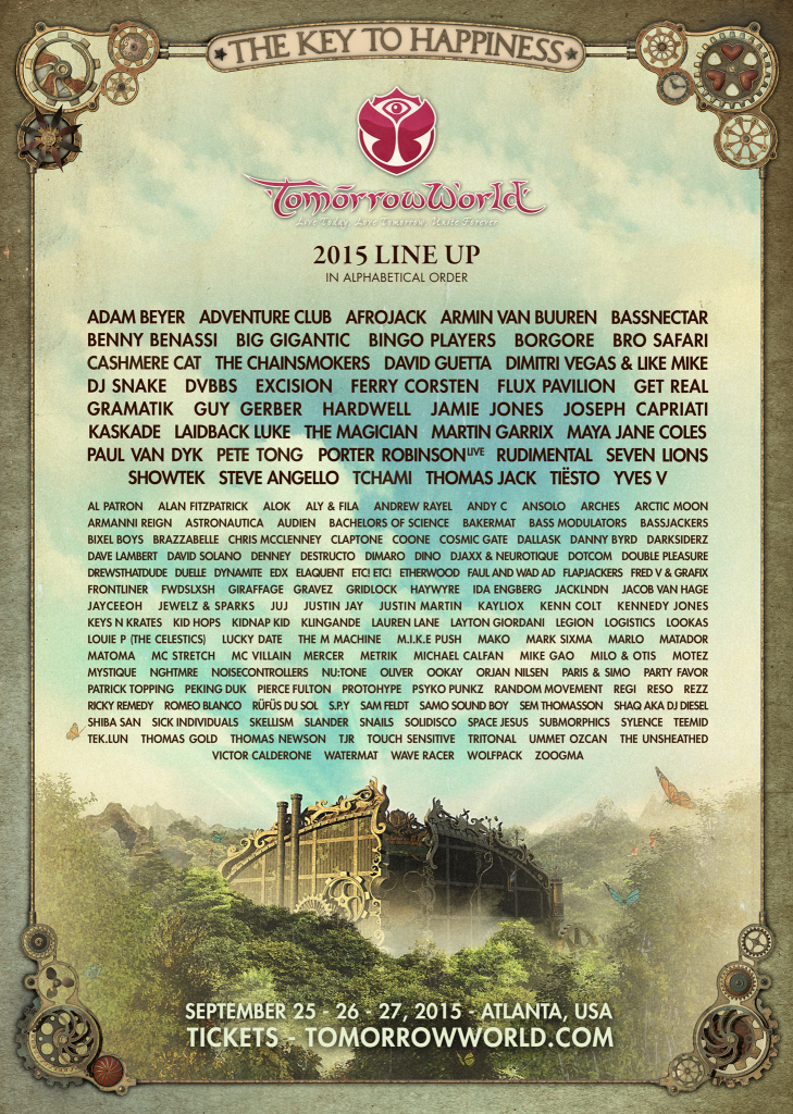 TomorrowWorld Releases Full 2015 Lineup