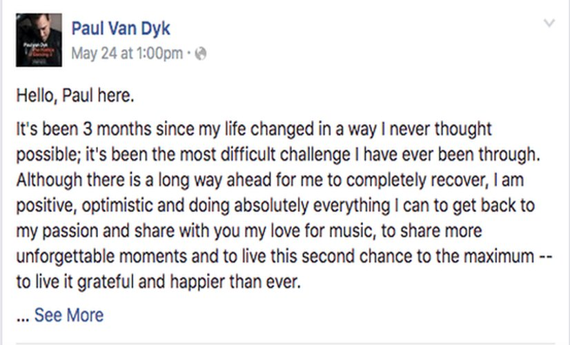 Paul van Dyk Announces he Will Be Back to Performing