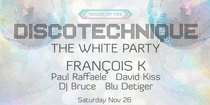 [Event Review] Discotechnique: The White Party at House of Yes 11/26/16
