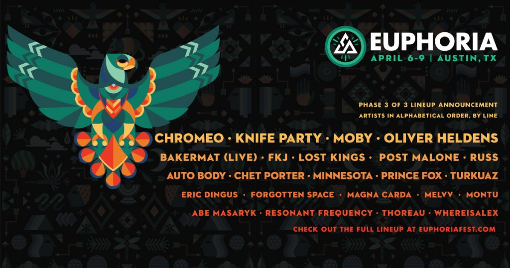 Euphoria Music Festival Announces Third and Final Phase of Their 2017 Lineup