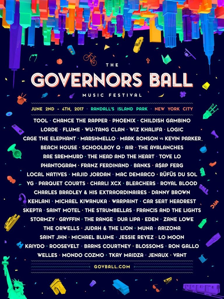 Governors Ball Announces 2017 Lineup