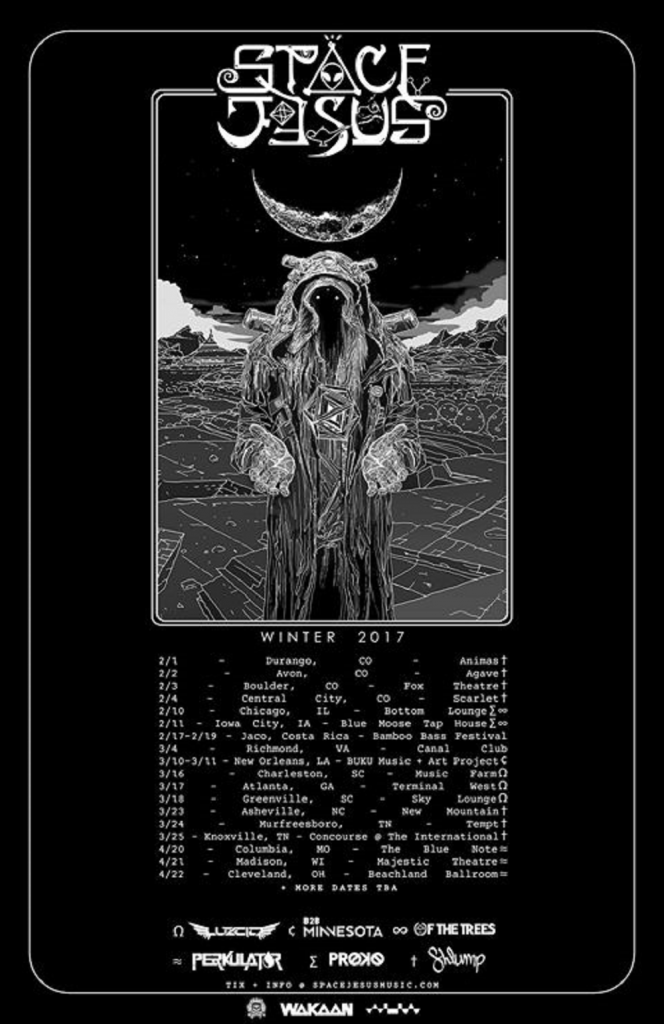 Space Jesus Announces Winter 2017 Tour With Wide Array of Openers