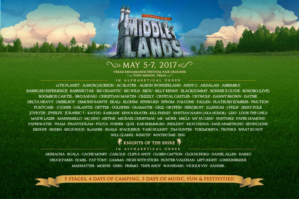 Middlelands Announces Initial Lineup for 2017
