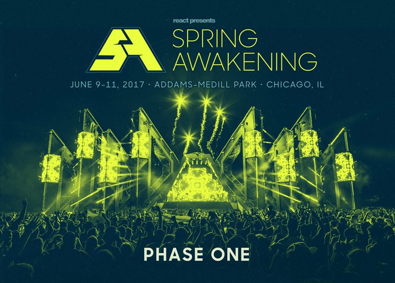 Spring Awakening Music Festival Announces 2017 Phase 1 Lineup