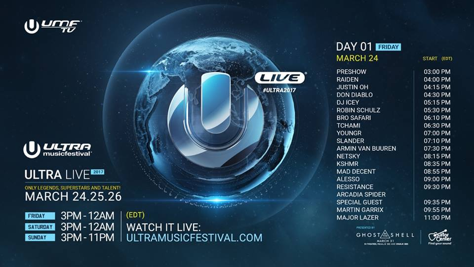 Watch Ultra Music Festival 2017 – Day 2 Live Stream