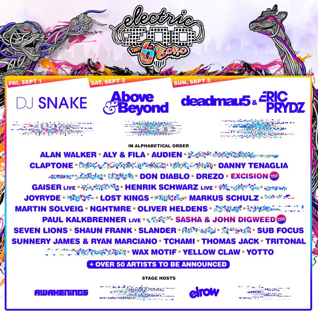 Electric Zoo: The 6th Boro Releases Phase 1 Lineup