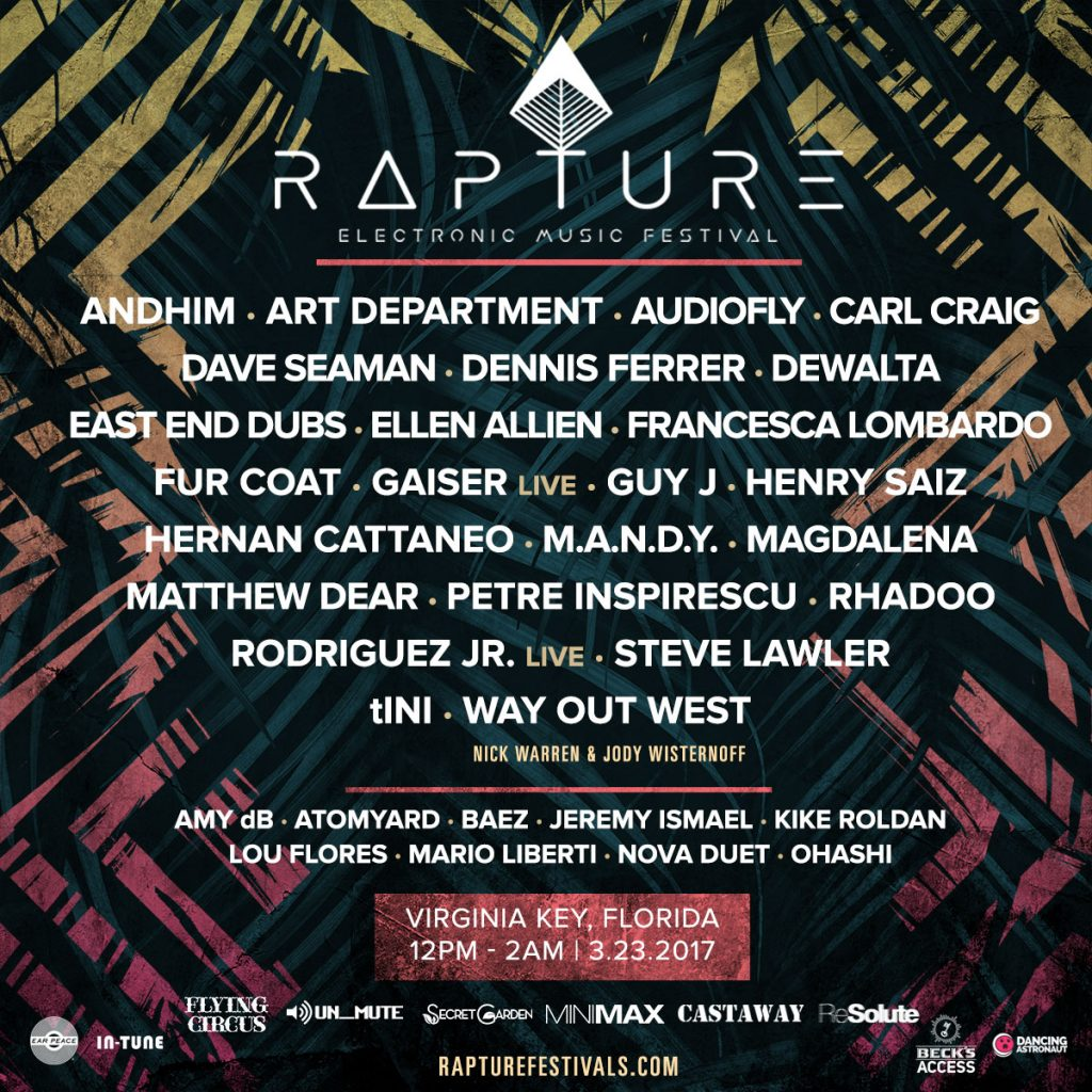 Rapture Music Festival Lineup Announced