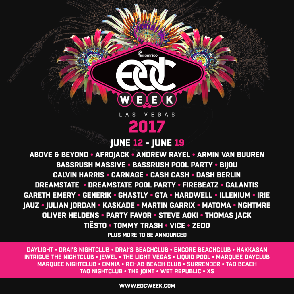 Insomniac Announces First Round of EDC Week Fun