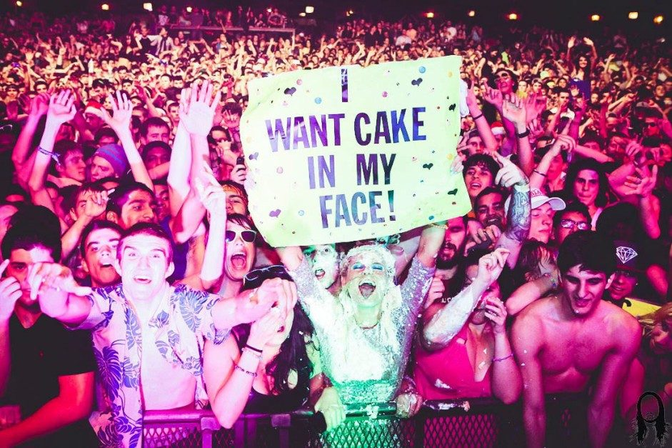 Steve Aoki Knocks a Fan Down with Cake Throw at Ultra