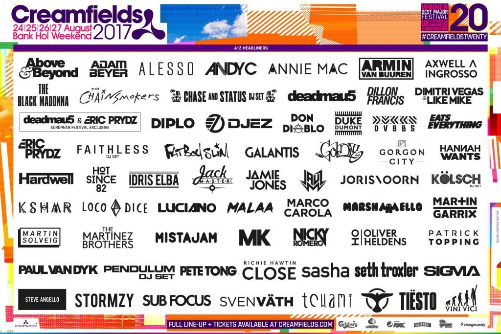 Creamfields Announces Incredible 2017 Lineup