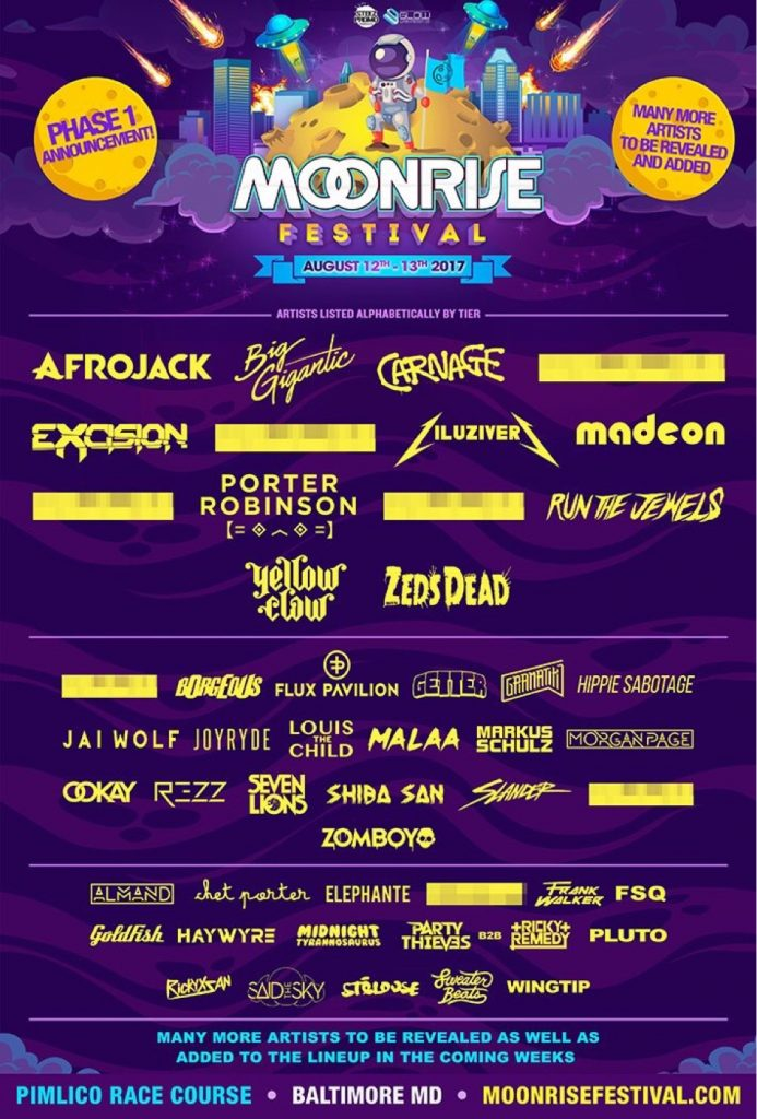 Moonrise Festival Announces 2017 Phase 1 Lineup