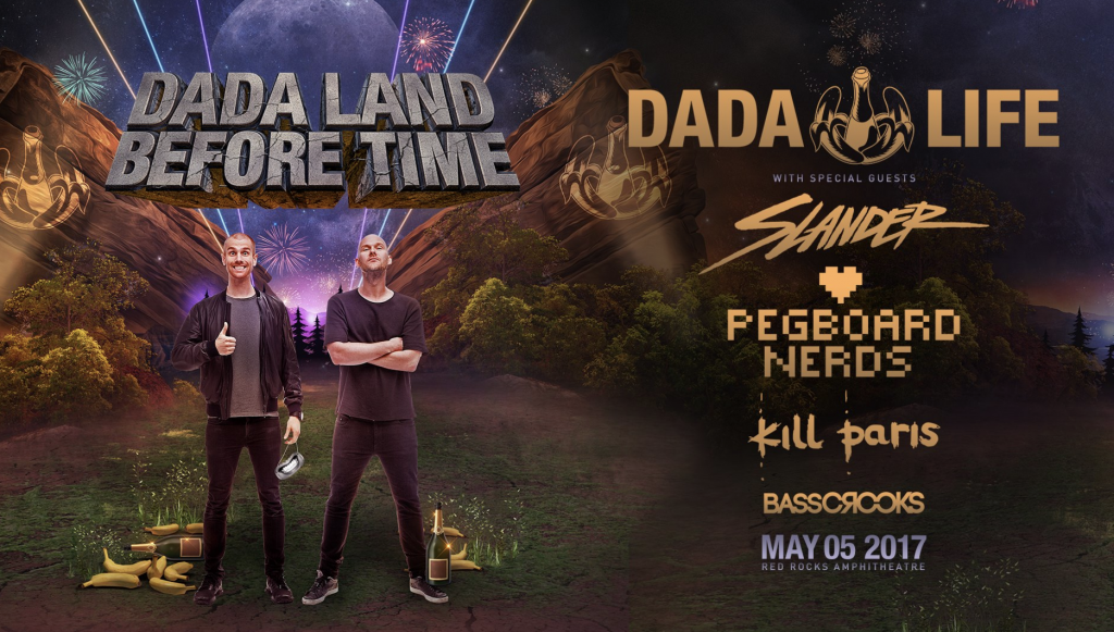 Dada Life Set To Return Red Rocks to Prehistoric Times