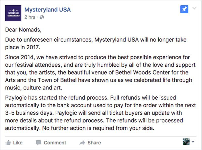 Mysteryland USA Cancels 2017 Festival