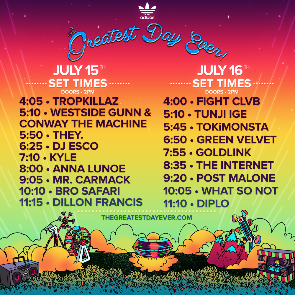 The Greatest Day Ever! Festival Lineup Released