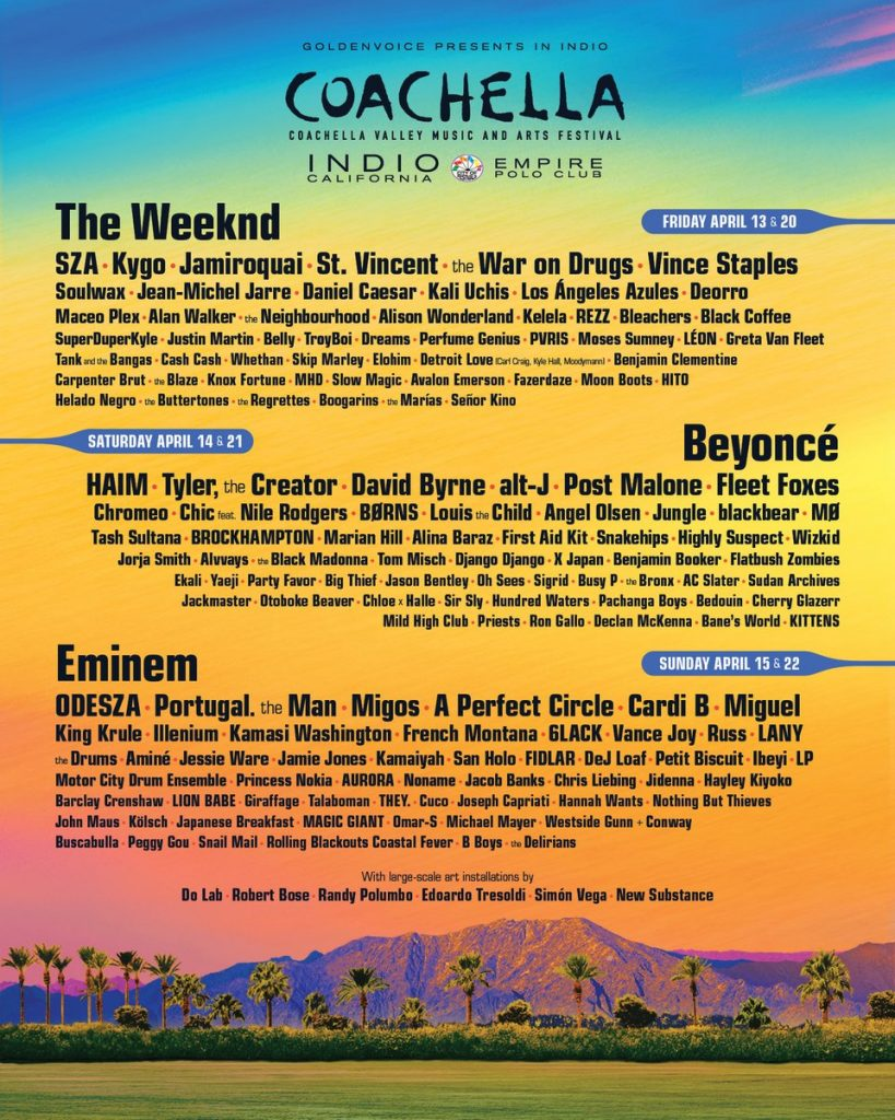 Coachella Valley Music and Arts Festival Announces 2018 Lineup